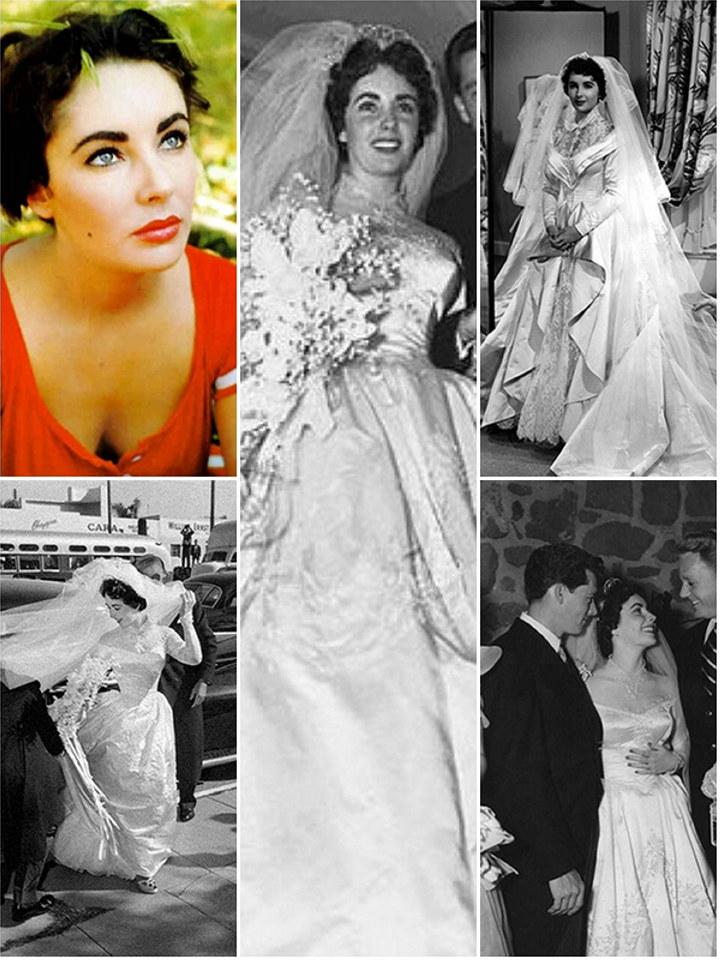Iconic wedding dresses elizabeth taylor the wedding for Elizabeth taylor s wedding dresses