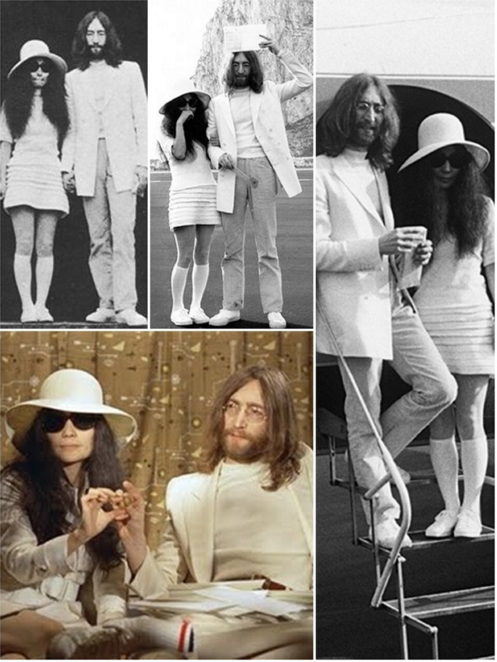 Iconic Wedding Dresses Yoko Ono The Wedding Secret Magazine