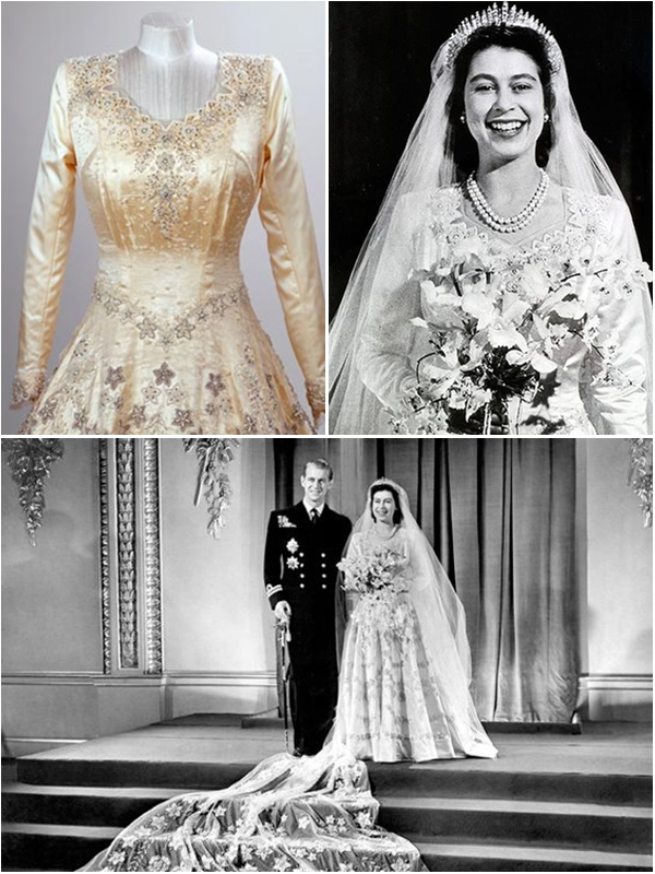 Wedding Dresses For Queens : A look back at the queen s wedding dress
