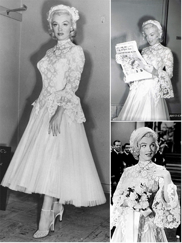 iconic wedding dresses in film gentlemen prefer blondes