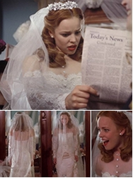 Iconic wedding dresses in film for The notebook wedding dress